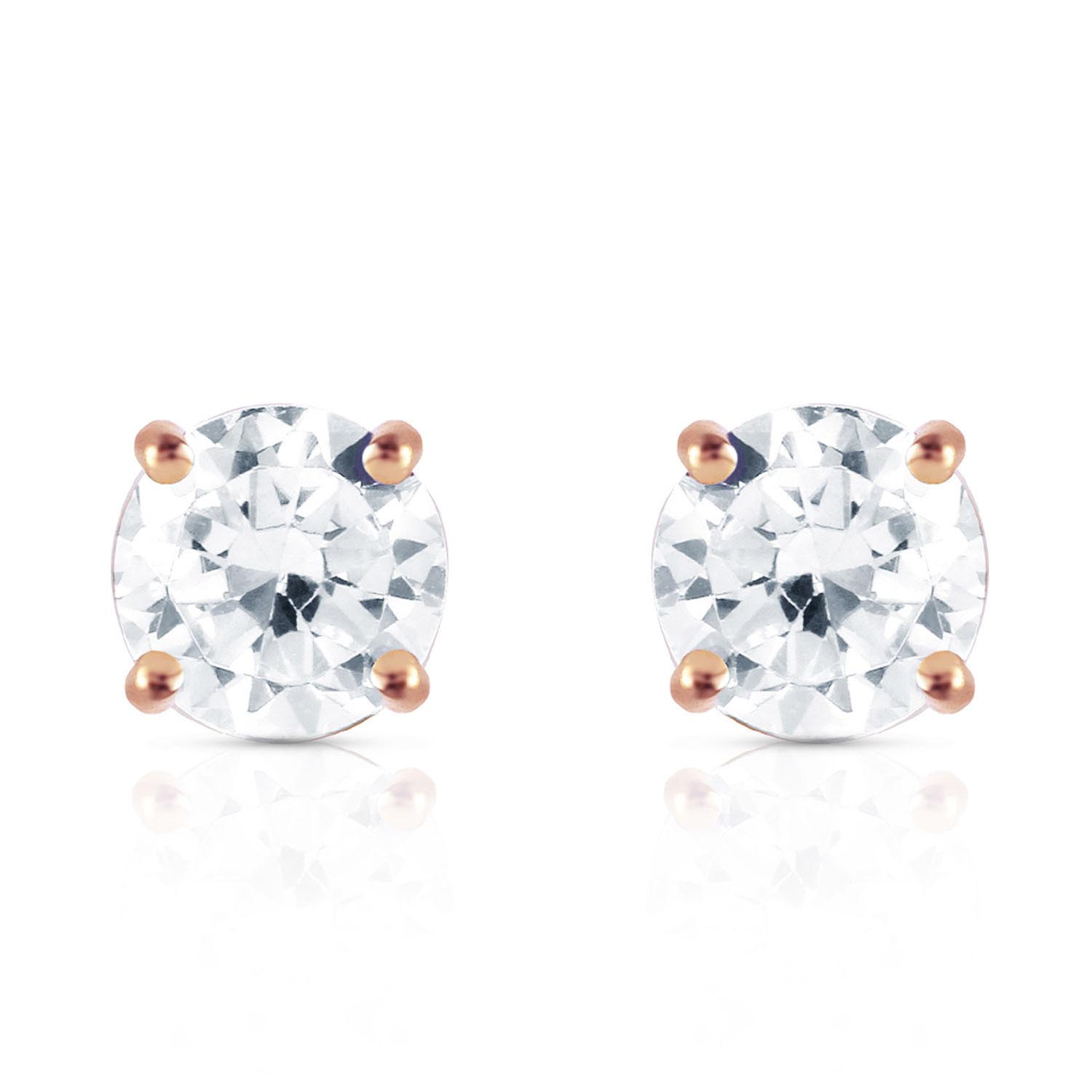 Diamond Stud Earrings in 14K Rose Gold