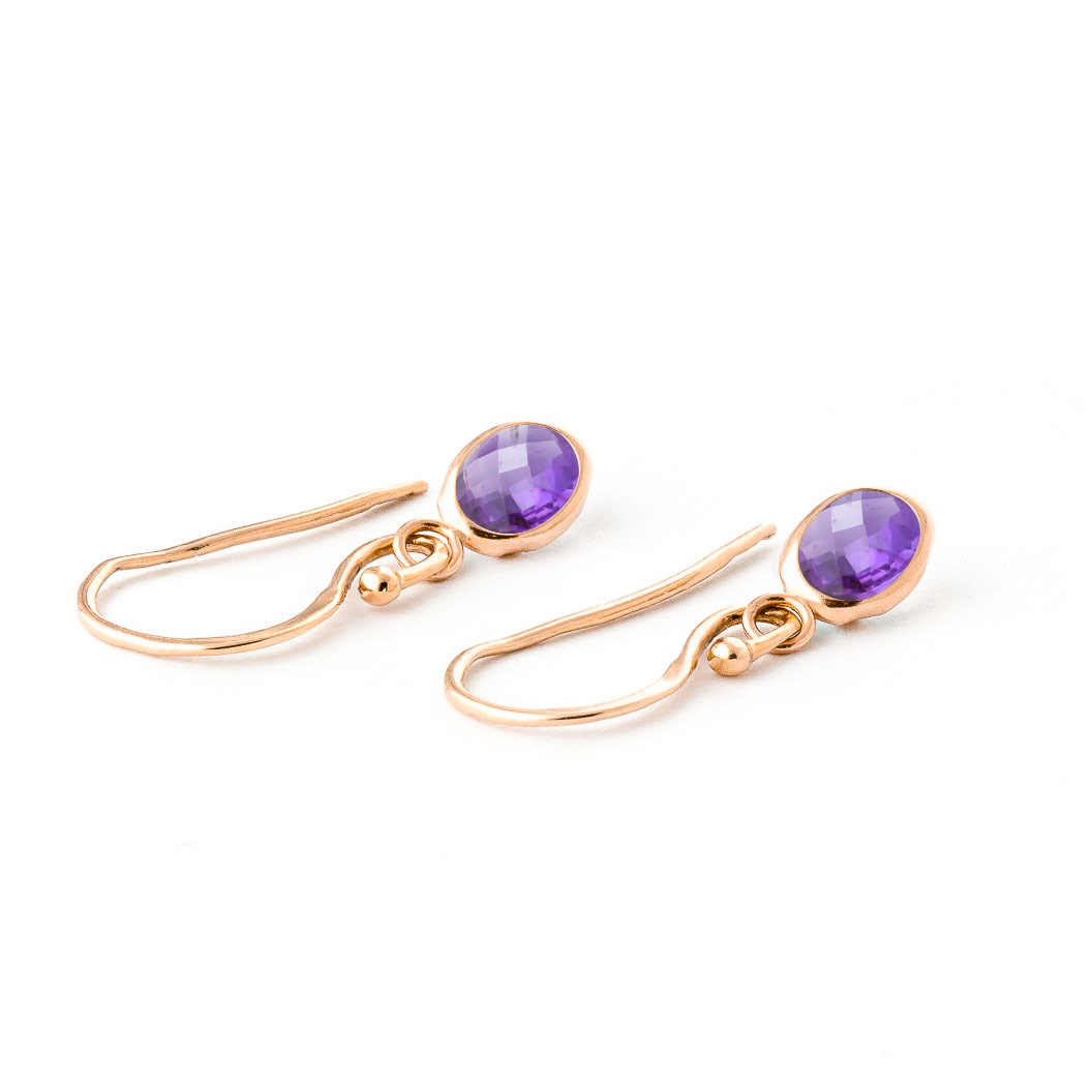 Amethyst Allure Drop Earrings 1.0ctw in 14K Rose Gold