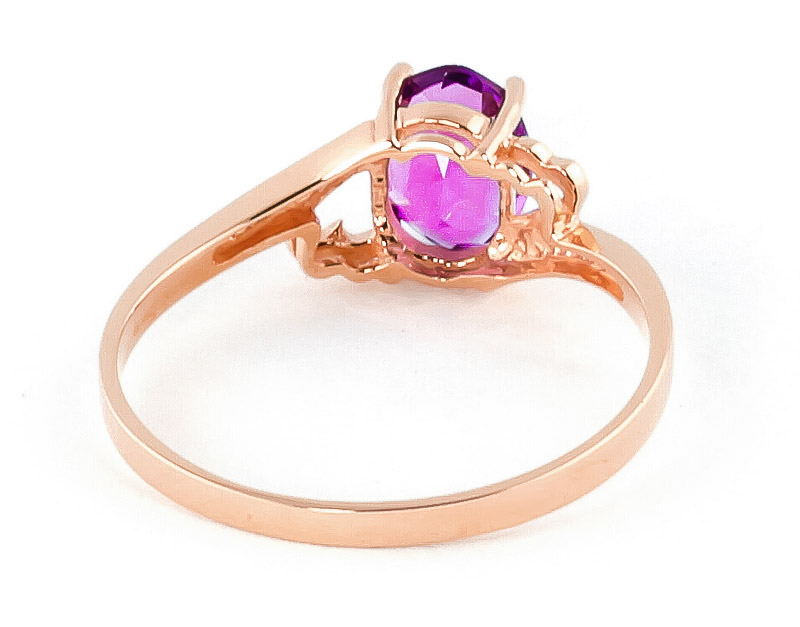 Pink Topaz Classic Desire Ring 1.0ct in 9ct Rose Gold