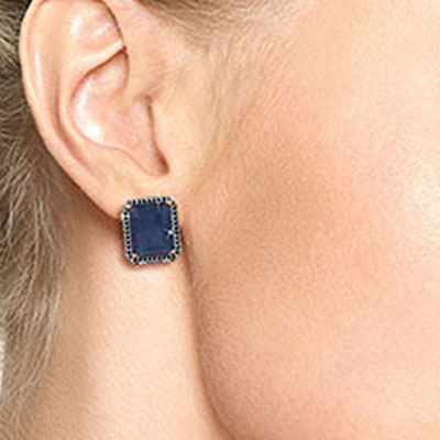 Sapphire and Diamond Stud French Clip Halo Earrings 12.8ctw in 14K Rose Gold