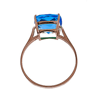 Blue Topaz Rococo Ring 3.6ct in 9ct Rose Gold
