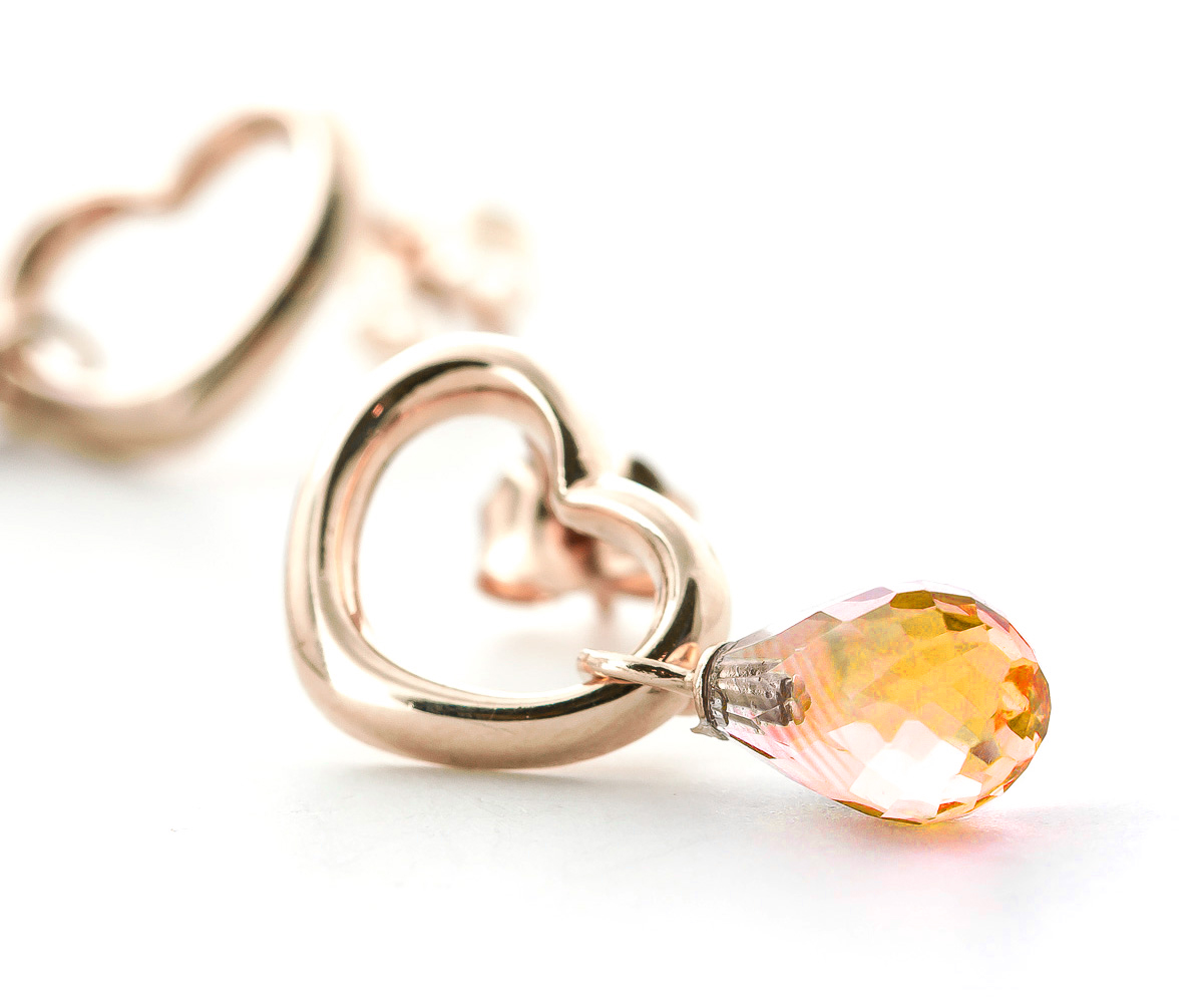 Citrine Stud Earrings 4.5ctw in 9ct Rose Gold