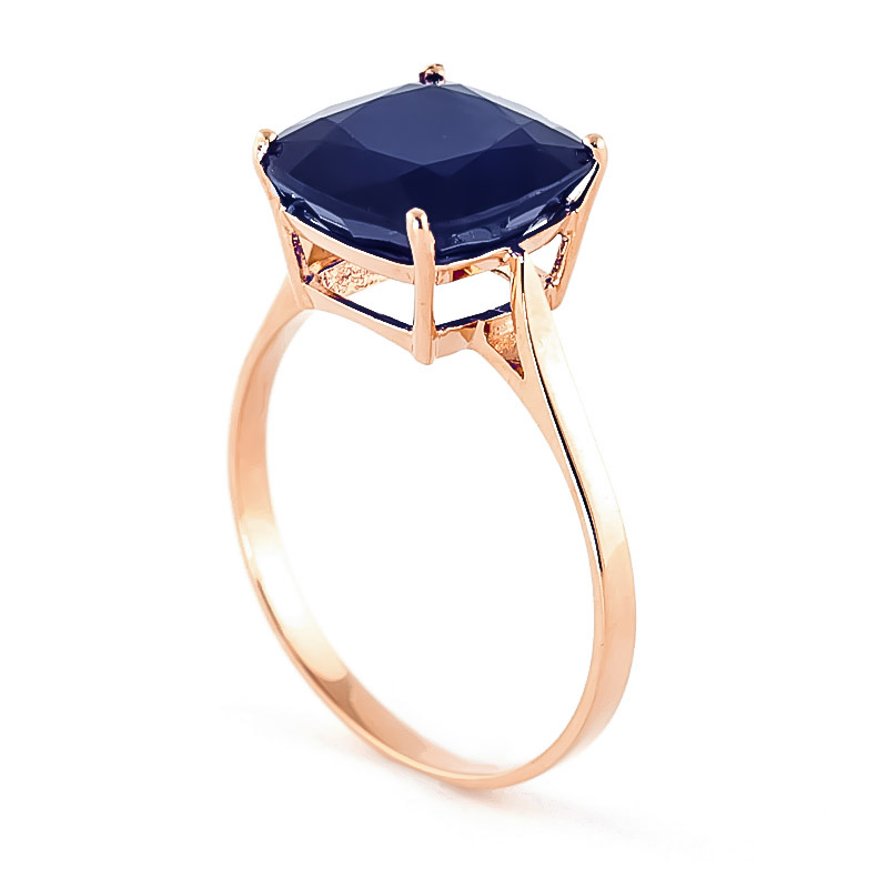 Sapphire Rococo Ring 4.83ct in 9ct Rose Gold