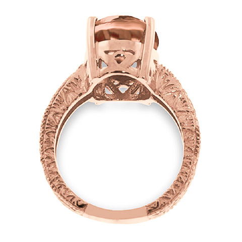 Oval Cut Citrine Ring 6.5ctw in 9ct Rose Gold