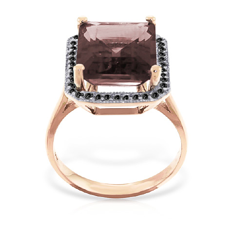Garnet and Diamond Halo Ring 7.5ct in 9ct Rose Gold