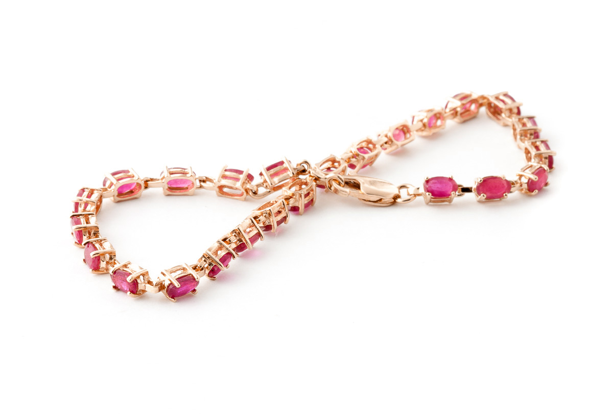 Ruby Infinite Tennis Bracelet 8.0ctw in 9ct Rose Gold