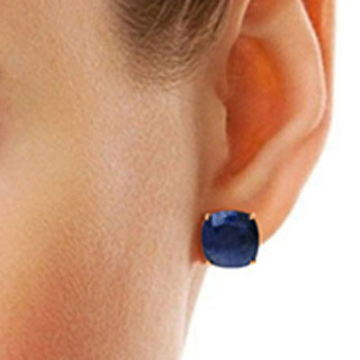 Sapphire Stud Earrings 9.66ctw in 14K Rose Gold