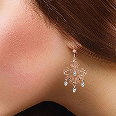 Drop Earrings in 14K Rose Gold