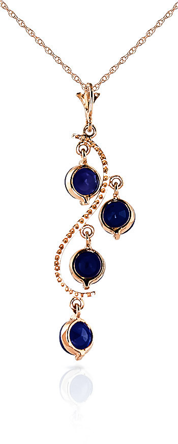 Sapphire Dream Catcher Pendant Necklace 2.0ctw in 14K Rose Gold