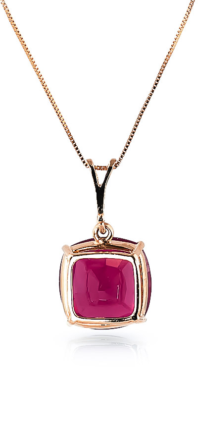 Ruby Rococo Pendant Necklace 4.7ct in 14K Rose Gold