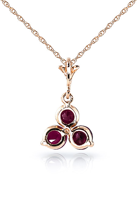 Ruby Trinity Pendant Necklace 0.75ctw in 14K Rose Gold