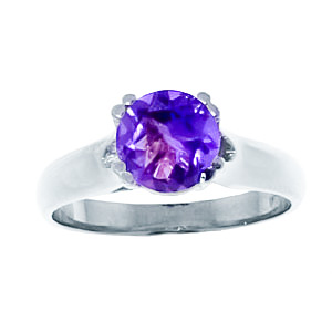 Sterling Silver 1.10ct Amethyst Solitaire Ring