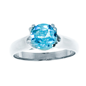 Sterling Silver 1.10ct Blue Topaz Solitaire Ring