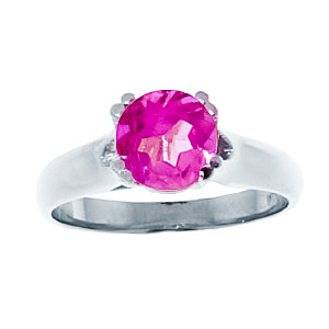 Sterling Silver 1.10ct Pink Topaz Solitaire Ring