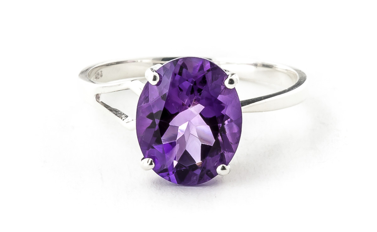 Sterling Silver 2.20ct Amethyst Ring