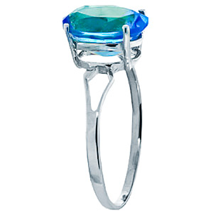 Sterling Silver 2.20ct Blue Topaz Ring