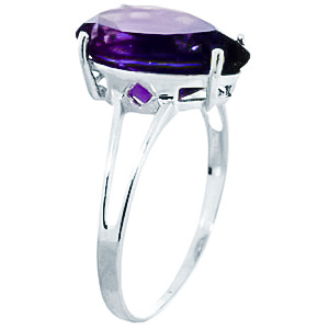 Sterling Silver 5.0ct Amethyst Ring