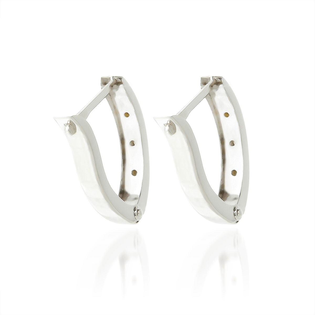 Diamond Huggie Earrings in 14K White Gold