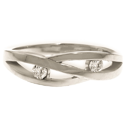 Round Brilliant Cut Diamond Channel Set Ring in 9ct White Gold