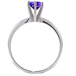 Amethyst Crown Solitaire Ring 0.65ct in 14K White Gold