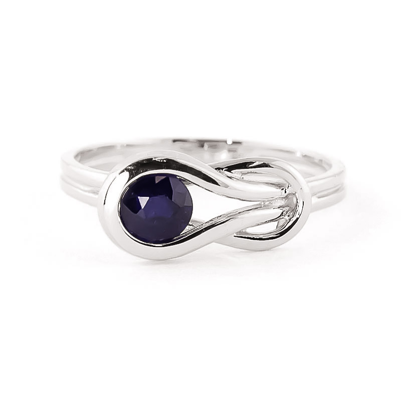 Sapphire San Francisco Ring 0.65ct in 14K White Gold