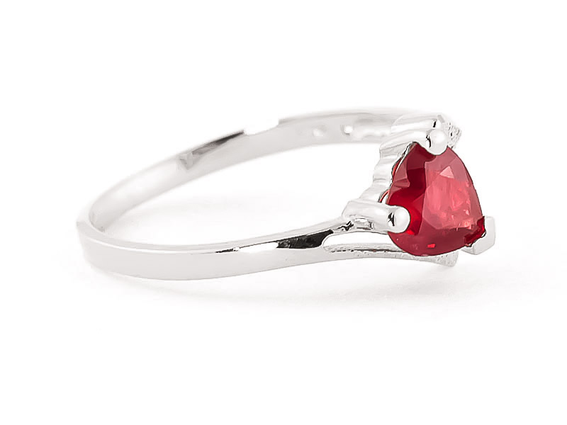 Ruby Devotion Heart Ring 1.0ct in 9ct White Gold