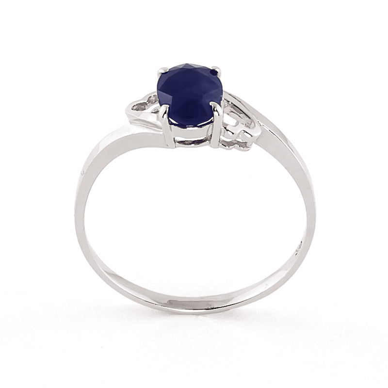 Sapphire Classic Desire Ring 1.0ct in 14K White Gold