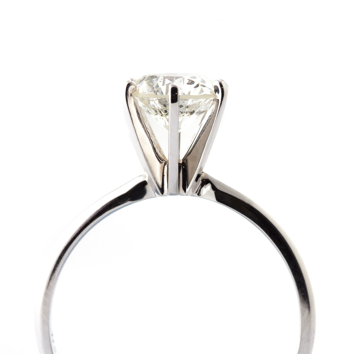 Round Brilliant Cut Diamond Solitaire Ring in 9ct White Gold