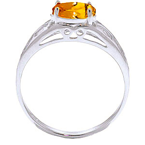 Citrine Catalan Filigree Ring 1.15ct in 9ct White Gold