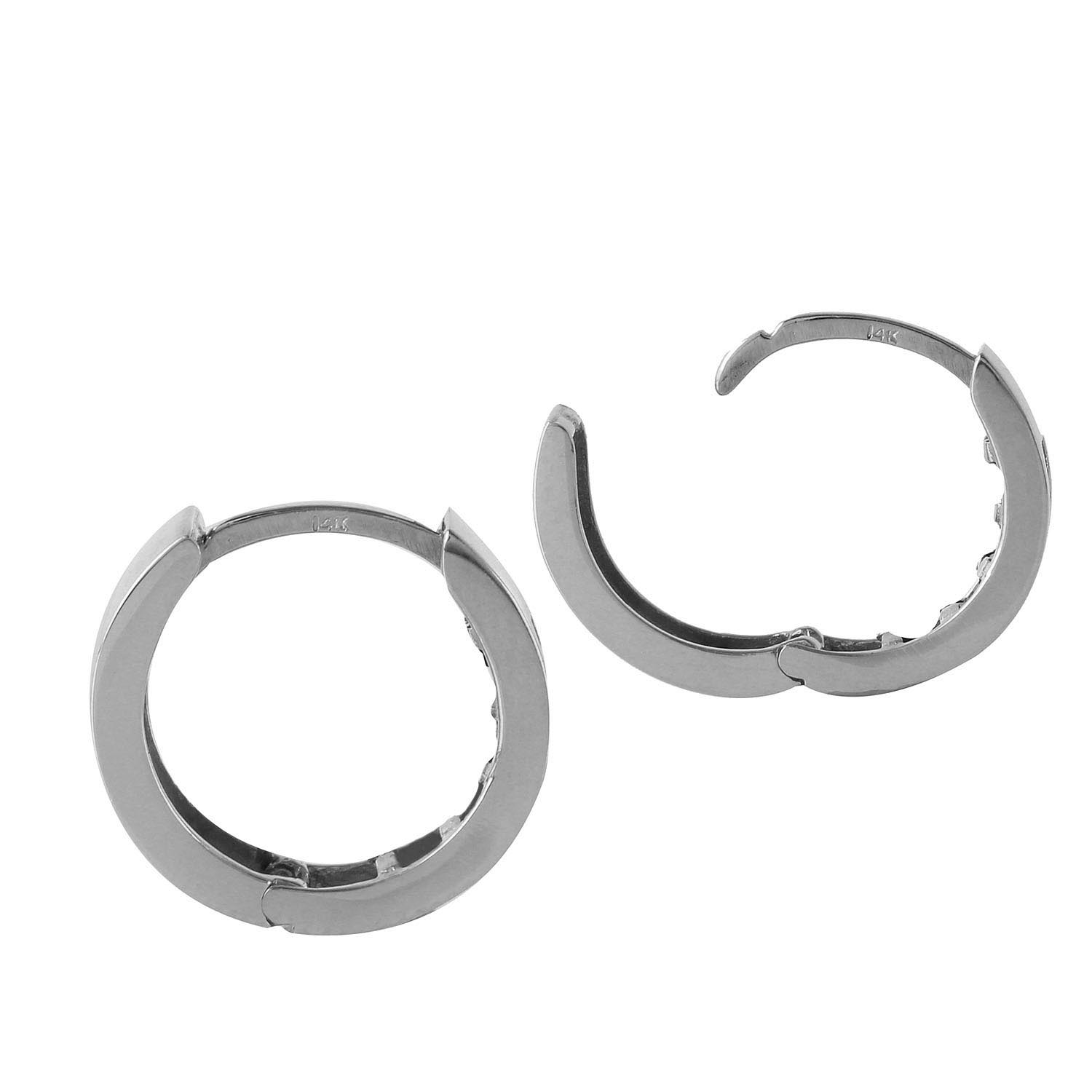 Sapphire Huggie Earrings 1.3ctw in 9ct White Gold