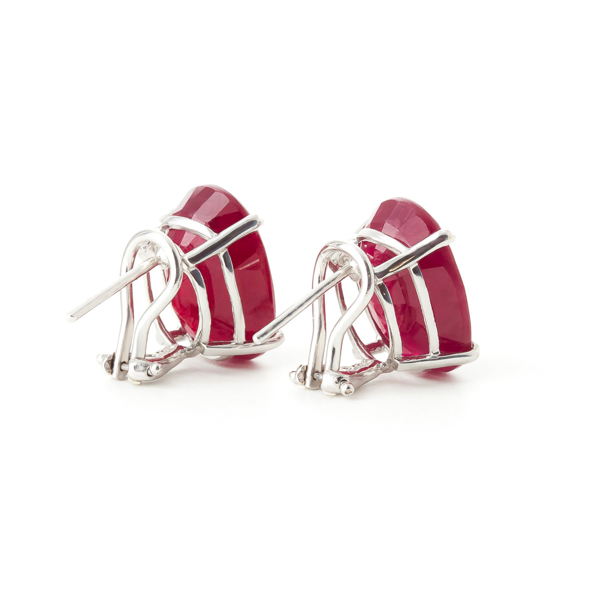 Ruby Stud Earrings 15.0ctw in 9ct White Gold