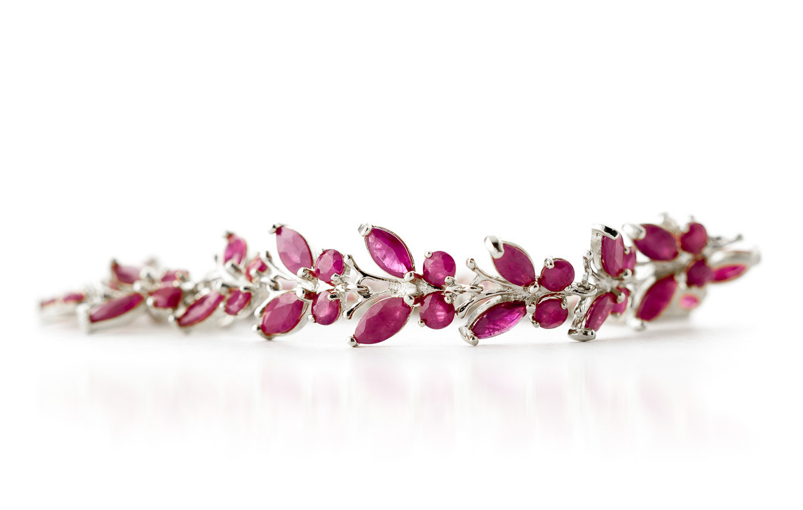 Ruby Butterfly Bracelet 16.5ctw in 9ct White Gold