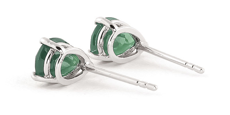 Emerald Stud Earrings 2.0ctw in 9ct White Gold