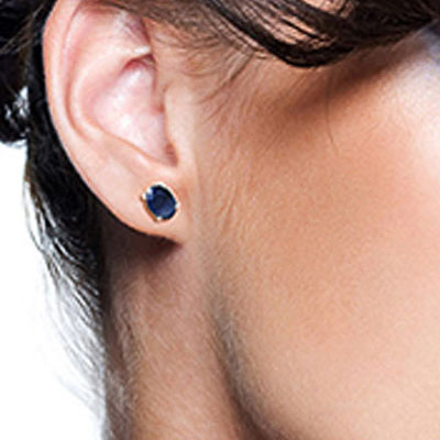 Sapphire Stud Earrings 2.0ctw in 9ct White Gold