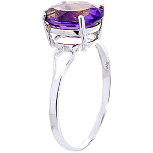 Amethyst Claw Set Ring 2.2ct in 14K White Gold