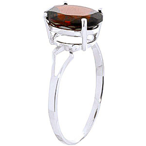 Garnet Claw Set Ring 2.2ct in 9ct White Gold