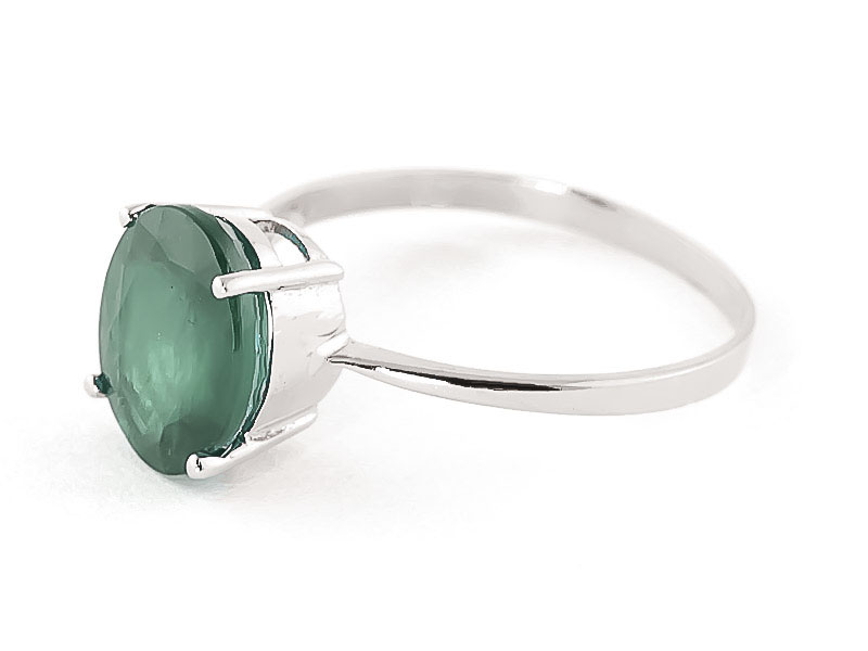 Emerald Claw Set Ring 2.14K in 14K White Gold