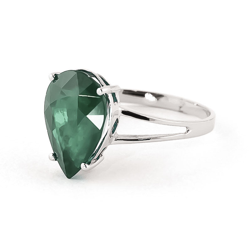 pear cut emerald ring 3 5ct in 9ct white gold 4270w qp