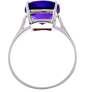 Amethyst Rococo Ring 3.6ct in 14K White Gold