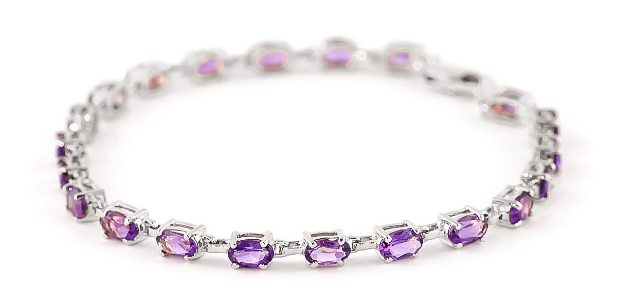 Amethyst Infinite Tennis Bracelet 5.5ctw in 9ct White Gold