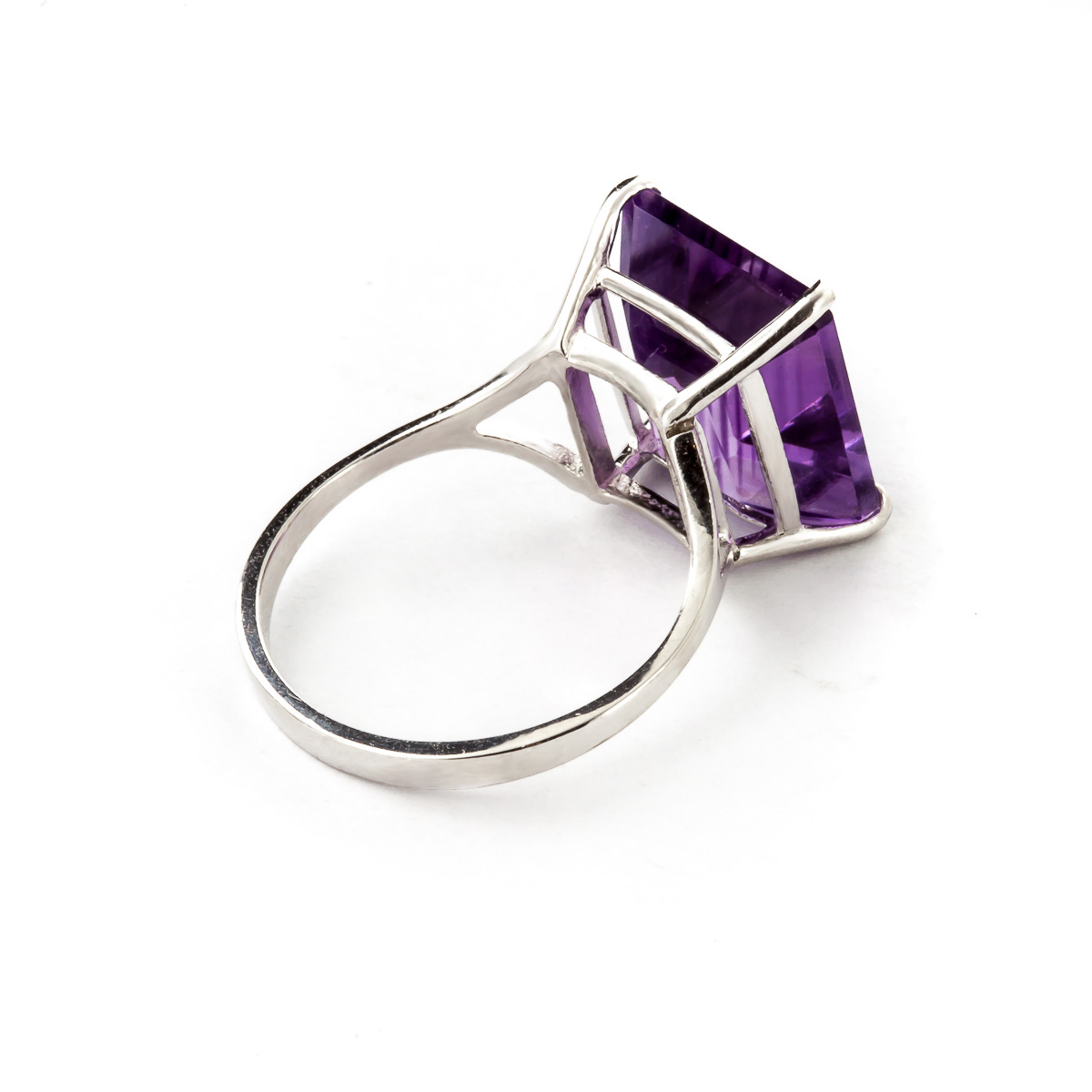 Amethyst Ring 6.5ct in 14K White Gold