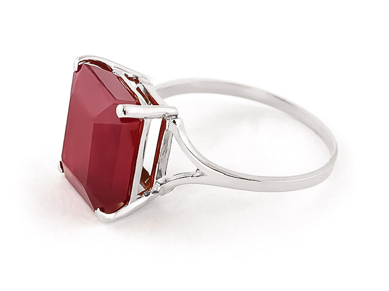 Ruby Ring 6.5ct in 14K White Gold