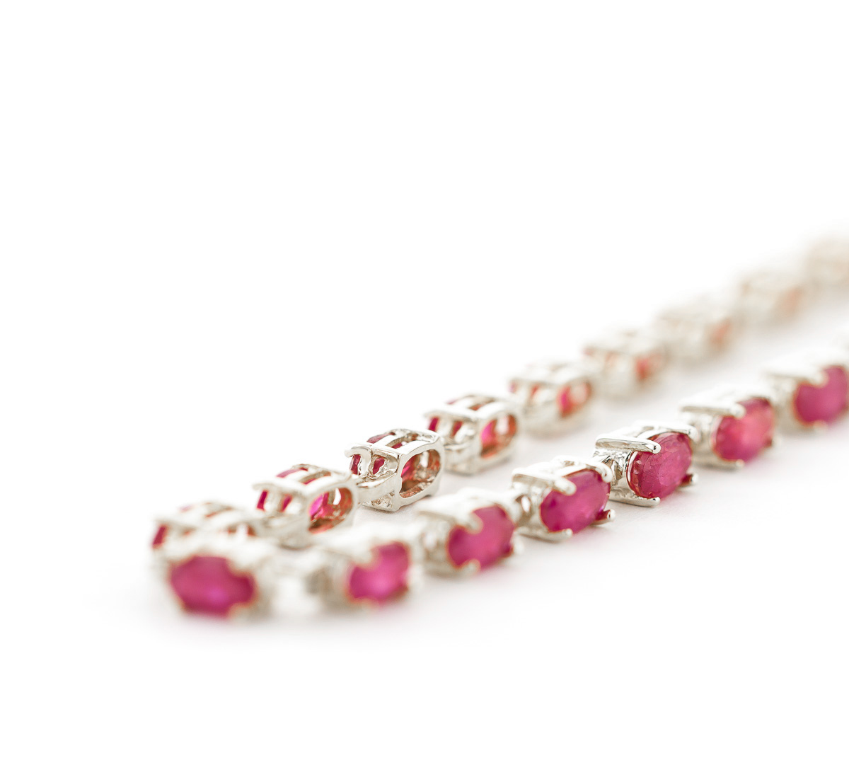 Ruby Infinite Tennis Bracelet 8.0ctw in 9ct White Gold