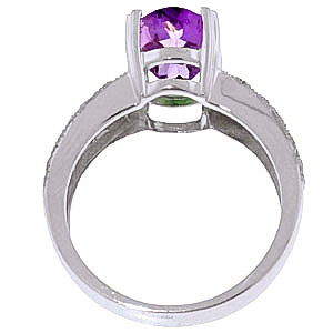 Amethyst and Diamond Renaissance Ring 3.0ct in 9ct White Gold