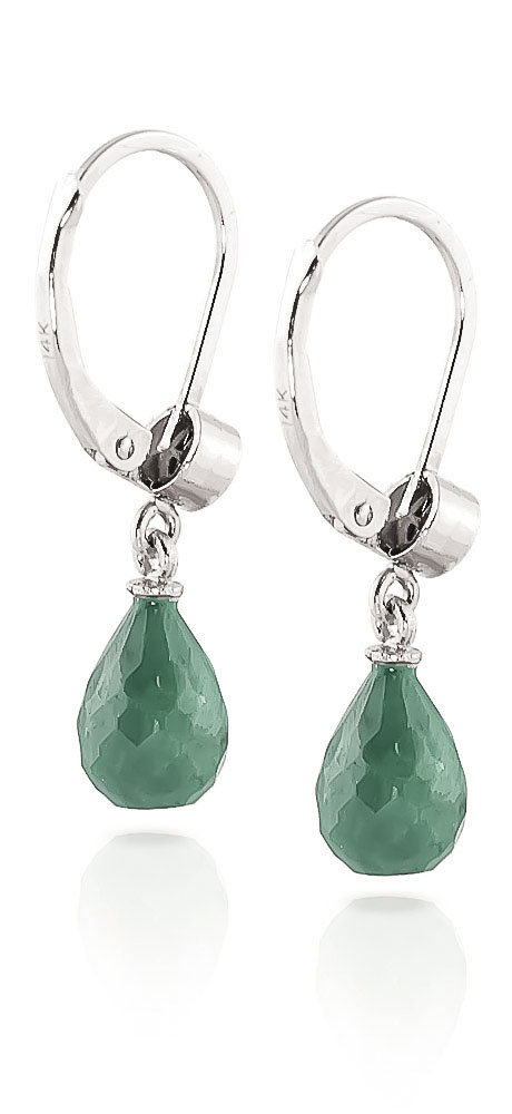 Emerald and Diamond Illusion Drop Earrings 6.6ctw in 9ct White Gold