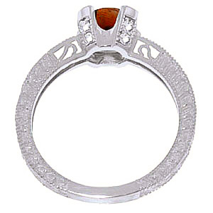 Garnet and Diamond Renaissance Ring 1.5ct in 9ct White Gold