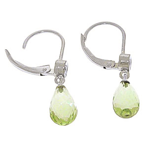 Green Amethyst and Diamond Illusion Drop Earrings 4.5ctw in 9ct White Gold
