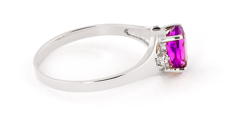 Pink Topaz and Diamond Desire Ring 0.75ct in 14K White Gold