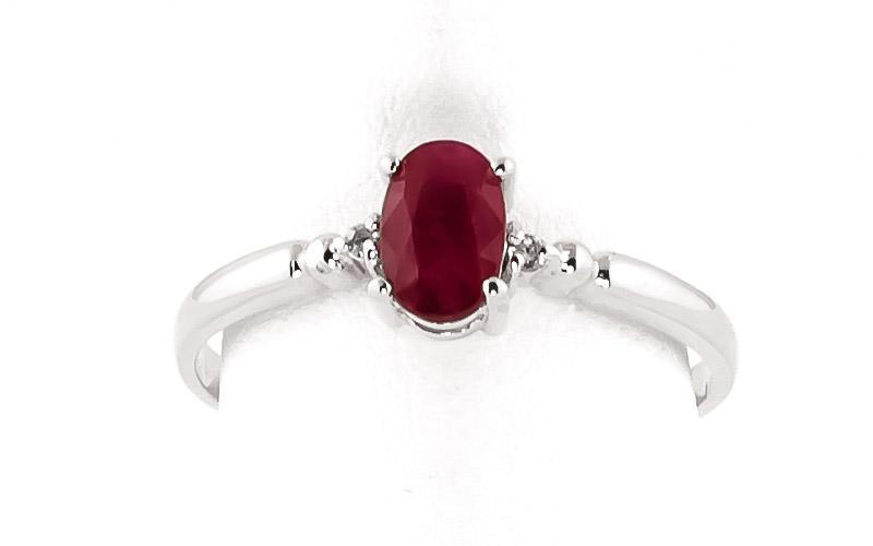 Ruby and Diamond Allure Ring 0.5ct in 9ct White Gold