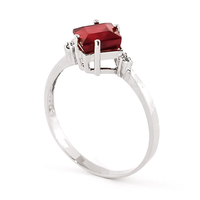 Ruby and Diamond Ring 1.45ct in 9ct White Gold
